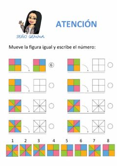 Interactive worksheet atención - figuras