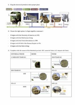 Interactive worksheet Periods of history