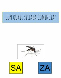 Interactive worksheet Con che sillaba comincia?