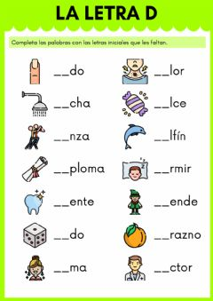 Interactive worksheet La letra D