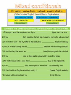 Interactive worksheet Mixed conditionals