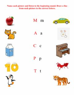 Interactive worksheet Letters Review