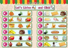 Interactive worksheet 4.10. Food and Drinks - Let's Listen and Click 2