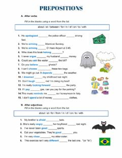 Interactive worksheet Collocations (Prepositions)