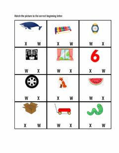 Ficha interactiva Letter Ww and letter Xx worksheet Week 17