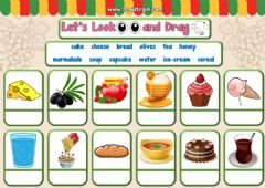 Interactive worksheet 4.10. Food and Drinks - Let's Look and Drag 2