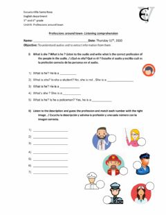 Interactive worksheet Professions Listening task