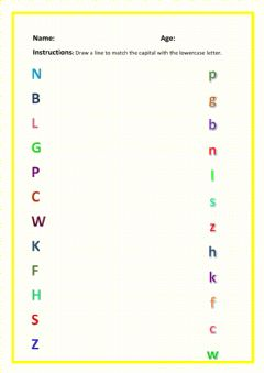 Interactive worksheet Mix and match upper and lowercase letters
