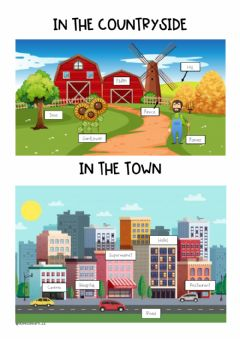 Interactive worksheet The city and the countryside