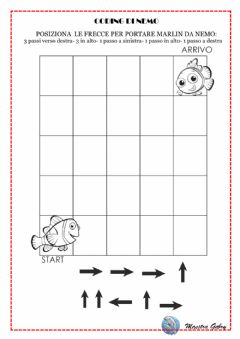 Interactive worksheet Coding nemo