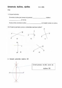 Interactive worksheet Simetrala duzine