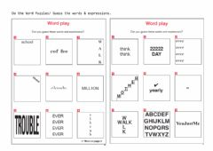 Interactive worksheet Word Play