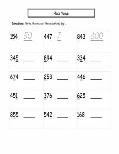 Interactive worksheet Place Value (Hundreds, Tens and Ones)