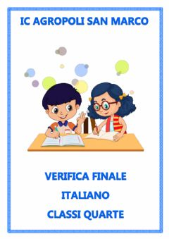 Interactive worksheet Verifica italiano classe quarta