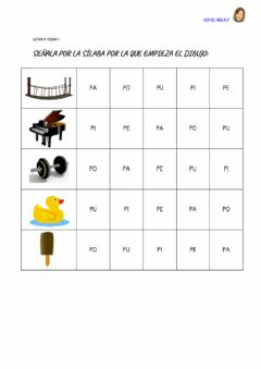Interactive worksheet Letra p: ficha 5