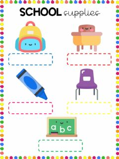 Interactive worksheet Classroom supplies