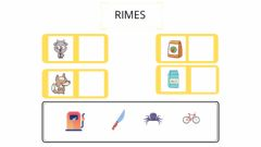 Interactive worksheet Rimes