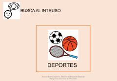 Interactive worksheet Busca al intruso-deportes