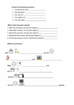 Interactive worksheet Likes-Dislikes