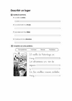 Interactive worksheet Practica la descripción