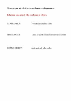 Interactive worksheet Tiempo Pascual