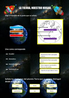 Interactive worksheet El planeta Tierra