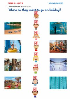 Interactive worksheet On holiday