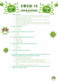 Interactive worksheet Coronavirus