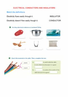 Interactive worksheet Electrical Conductors and Insulators