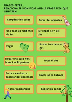 Interactive worksheet Frases fetes