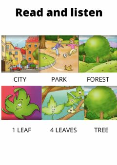 Interactive worksheet The travelling leaf