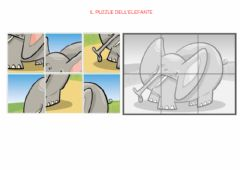 Interactive worksheet 25 - puzzle dell'elefante