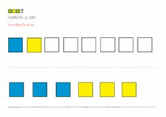 Interactive worksheet Series dos colores cuadrados 1