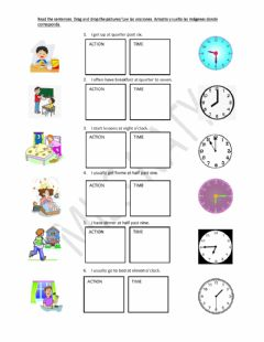 Interactive worksheet Routines &the time