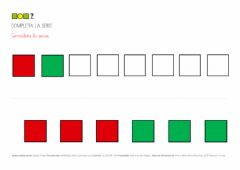 Interactive worksheet Series dos colores cuadrados 2