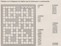 Interactive worksheet Números cruzados