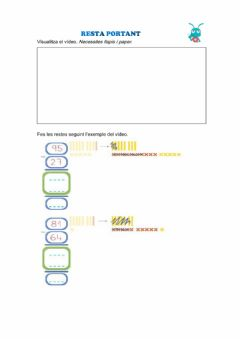 Interactive worksheet Resta portant
