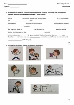 Interactive worksheet DaF leicht-Lektion 15.