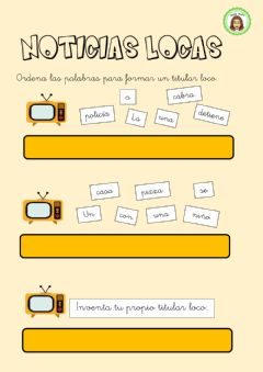 Interactive worksheet Titulares locos
