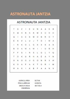 Interactive worksheet Astronauta jantzia