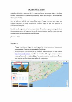 Interactive worksheet Viajando 1
