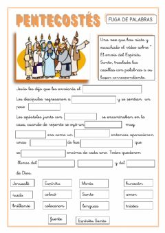 Interactive worksheet Pentecostés