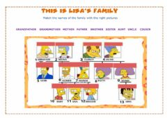 Interactive worksheet The family