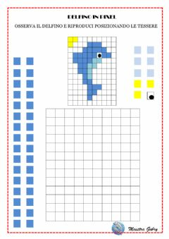 Interactive worksheet Delfino in pixel