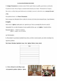 Interactive worksheet Iglesia