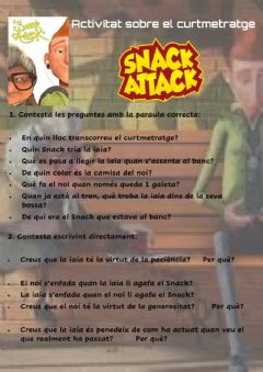Ficha interactiva Snack attack