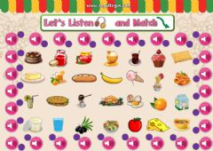 Ficha interactiva 4.10. Food and Drinks - Let's Listen and Match