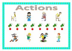Ficha interactiva Actions (matching)