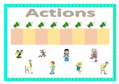 Ficha interactiva Actions (drag and drop)