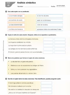 Interactive worksheet Analisis sintáctico